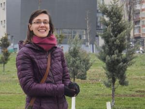 The wonderful Elisa, a Swiss/Milanese girl working in Pristhina, who were our host for three days. We had a lovely time. - - - - - A milánói Elisa három napig gondoskodott rólunk otthonában Prishtinában, ahol egy NGO-nak dolgozik.
