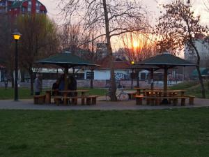 Pensioners play chess in the St Sava Park. - - - - - Idősek sakkoznak a Szent Sava parkban. Itt már csak egy páran, de volt hogy húszfős nézősereg gyűlt össze egy-egy meccs fölött.