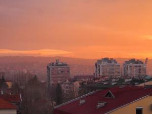 Sunset from Boki's balkony. - - - - - Naplemente Boki erkélyéről.