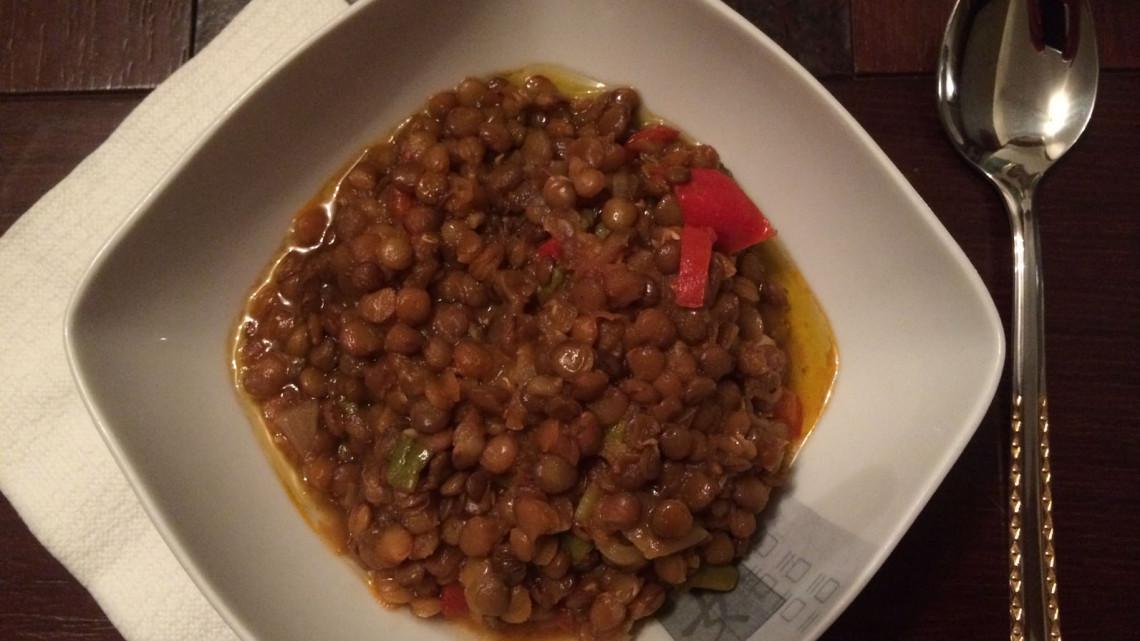 Greek Lentil soup by Julia. The best thing a cyclist can get after a cold, rainy day. - - - - - Görög lencseleves Juli kezei alól. A legjobb egy hideg, esős nap után.