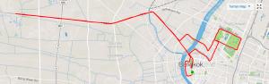 Bangkok Marathon route